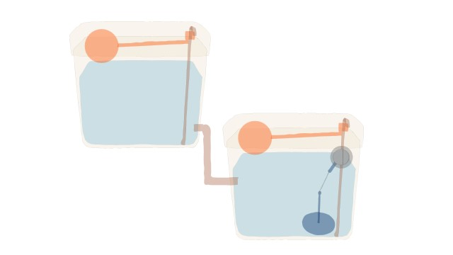 An image to show how a water cistern could be improved to improve filling.